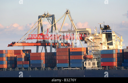 Loading of container ships, Odessa, Ukraine - Stock Photo