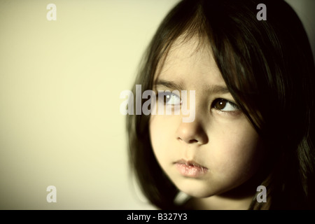 Portrait of five year old girl - Stock Photo