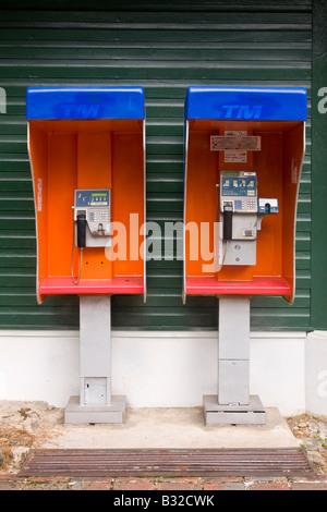 Telephone kiosks Borneo - Stock Photo