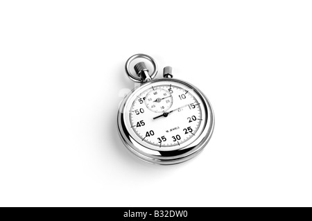 CUT OUT OF AN ANALOGUE STOP WATCH