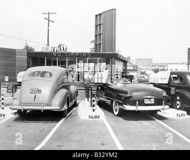 Drive-in restaurant 'The Track',  Los Angeles, CA, July 10, 1948 - Stock Photo