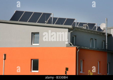 house with a solar technology - Stock Photo