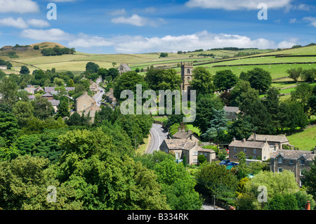 Village of Rainow in Summer, Peak District National Park, Cheshire, England, UK - Stock Photo