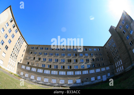kdf spa Colossus of Prora of the Third Reich on the island Ruegen - Stock Photo