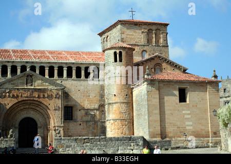 Colegiata de Santillana del Mar Cantabria Espana - Stock Photo