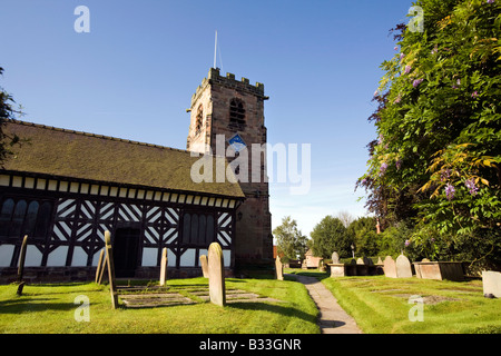 UK Cheshire Knutsford Lower Peover St Oswalds Church - Stock Photo