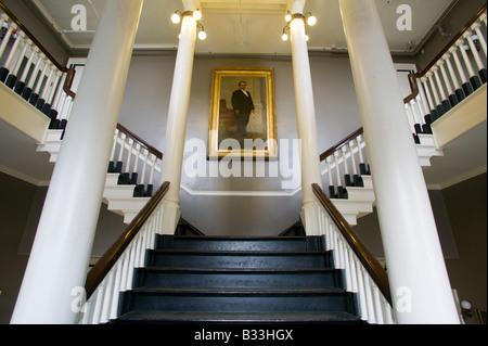 Interior of Faneuil Hall Birthplace of Liberty Boston Massachusetts - Stock Photo