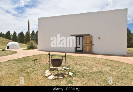 Texas Lubbock National Ranching Heritage Center Los Corralitos circa 1780 - Stock Photo