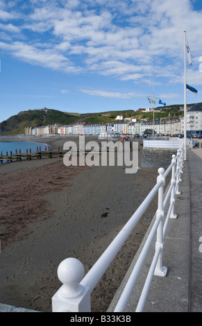 Aberystwyth beach and promenade - Stock Photo