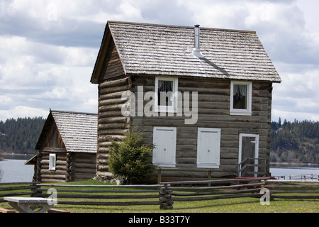 The 108 Heritage site on Hwy 97 British Columbia Canada - Stock Photo