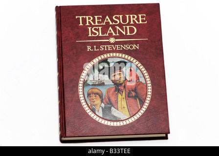 R.L. Stevenson Book - Treasure Island - Stock Photo