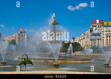 Piata Unirii square in Bucharest Romania Europe - Stock Photo