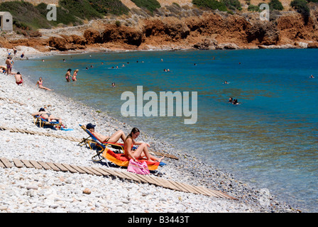 Beach, Plaka, near Elounda, Lasithi Province, North Coast ...