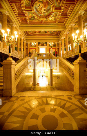 The interior of the National museum in Budapest Hungary - Stock Photo