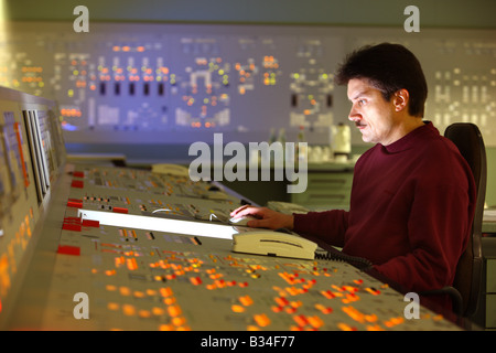 Simulator center for nuclear power stations, training facility for power station staff. Essen, Germany - Stock Photo