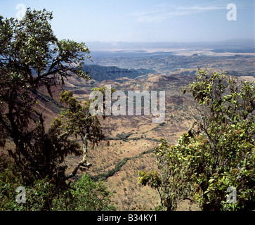Kenya, Maralal District, Losiolo. A fine view from the eastern wall of Africa's Great Rift Valley system at Losiolo - Stock Photo