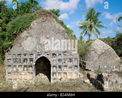 Kenya, Pate Island, Siyu. An historic tomb of a prominent 19th century lady and her daughter on the outskirts of - Stock Photo