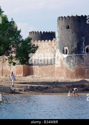 Kenya, Pate Island, Siyu. Siyu Fort. The Sultan of Zanzibar in the middle of the 19th century built this impressive - Stock Photo