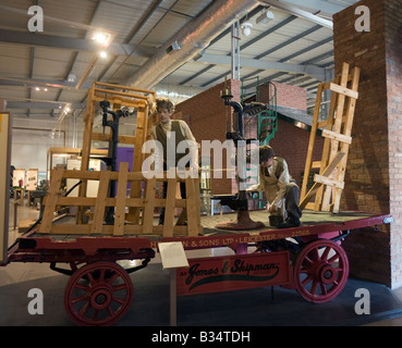 Display on cart Snibston Discovery Park, Coalville, Leicester. Former colliery Leics GB UK museum transport mining - Stock Photo