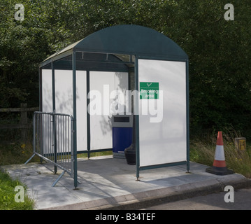 Outside covered smoking area - Stock Photo