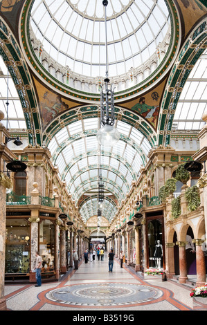 Shops in the County Arcade in the Victoria Quarter, Briggate, Leeds, West Yorkshire, England - Stock Photo