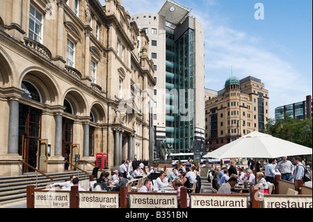The Restaurant Bar and Grill in the Old Post Office on a Friday lunchtime, City Square, Leeds, West Yorkshire, England - Stock Photo