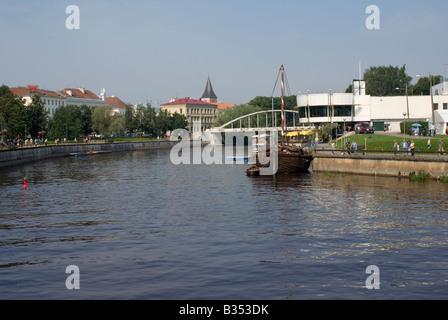 Estonian city Tartu seen over river Emajogi ( Mother river) Europe Europa Eu. Tartu is the second largest city of - Stock Photo