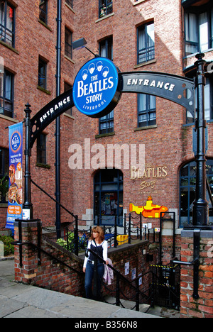 the 'beatles story' museum at the 'albert dock' in liverpool,england,uk - Stock Photo
