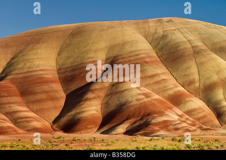 Painted Hills John Day Fossil Beds National Monument Oregon - Stock Photo