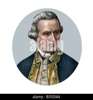 James Cook 1728 1779 English Navigator - Stock Photo