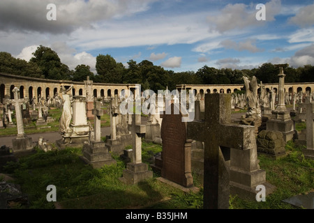 Brompton Cemetary in London - Stock Photo