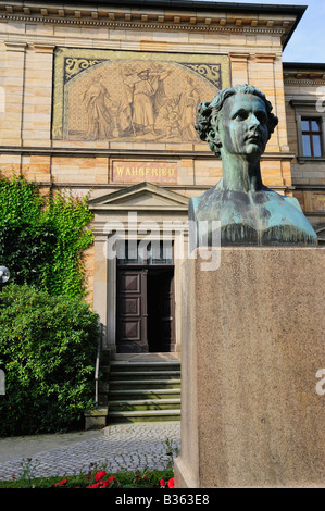 Villa Wahnfried Wagner House in Bayreuth Bavaria Germany - Stock Photo