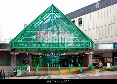 the entrance to st.johns market in liverpool,england,uk - Stock Photo