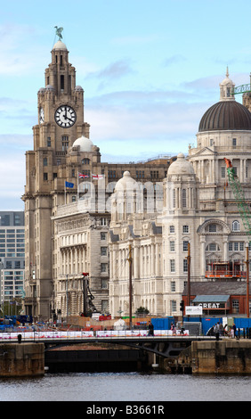 The Liver Buildings Liverpool UK - Stock Photo