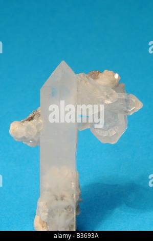 Quartz crystals from Piering mine - Stock Photo