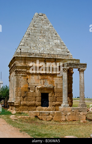 Pyramidal Tomb in Dana One of the Roman Dead Cities in Syria - Stock Photo
