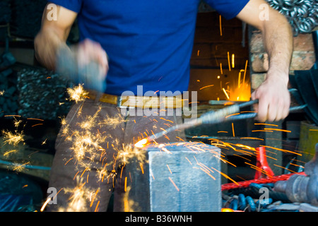... Hammering Bedu Tent Stakes at a Blacksmith Shop in the Old City in Aleppo Syria - & Hammering Bedu Tent Stakes at a Blacksmith Shop in the Old City in ...