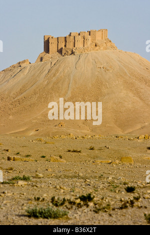 Arab Castle Qalaat Ibn Maan in Palmyra Syria - Stock Photo