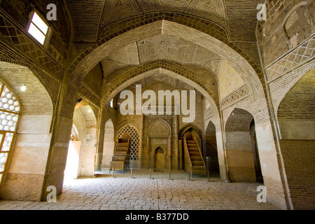Oljeitu Chamber inside the Jameh Masjid or Friday Mosque in Esfahan Iran - Stock Photo