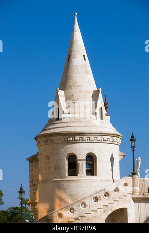 The Fisherman bastion in Budapest Hungary - Stock Photo