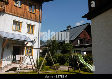 Austria Upper Austria Gosau village in the Dachstein Mountains - Stock Photo