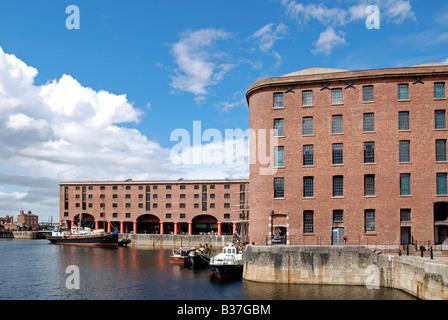 the restored 'albert dock' in liverpool,england,uk - Stock Photo
