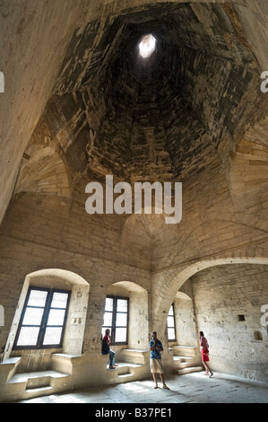 The Cuisine Haute Kitchen next to the Grand Tinel Banqueting Hall, Old Palace, Palais des Papes, Avignon, Provence, - Stock Photo