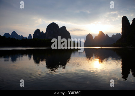 Cormorant Fisherman in the Lijang Li River Xingping Guilin province China model release 701 - Stock Photo