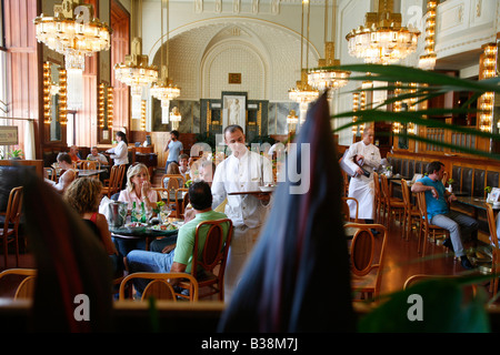 Aug 2008 - The Municipal House Cafe at Obecni Dum Stare Mesto Prague Czech Republic - Stock Photo