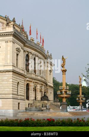 Aug 2008 - Rudolfinum concert hall Prague Czech Republic - Stock Photo
