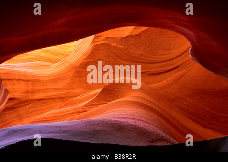 Abstract patterns in Lower Antelope Canyon Page Arizona - Stock Photo