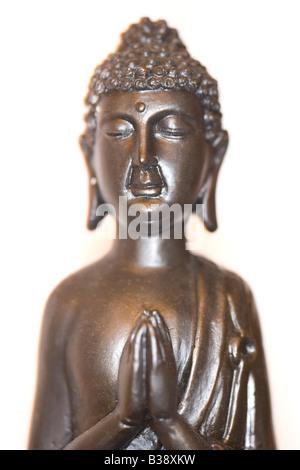 Schwarzer Buddha, little black Buddha - Stock Photo