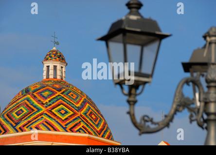 Dome of San Michele Alghero Sardinia Italy - Stock Photo