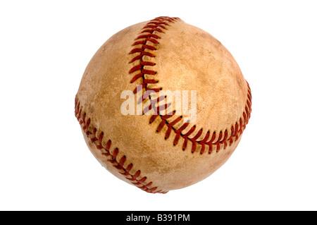 Old baseball knockout on white